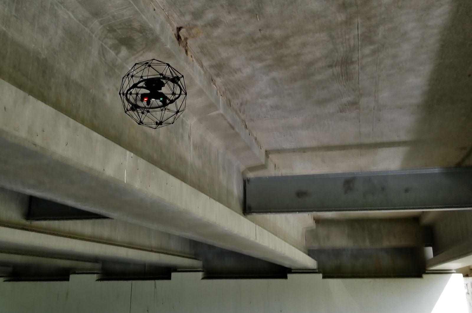 Indoor Drones in Bridge Inspection: Between Beams and inside Box Girder