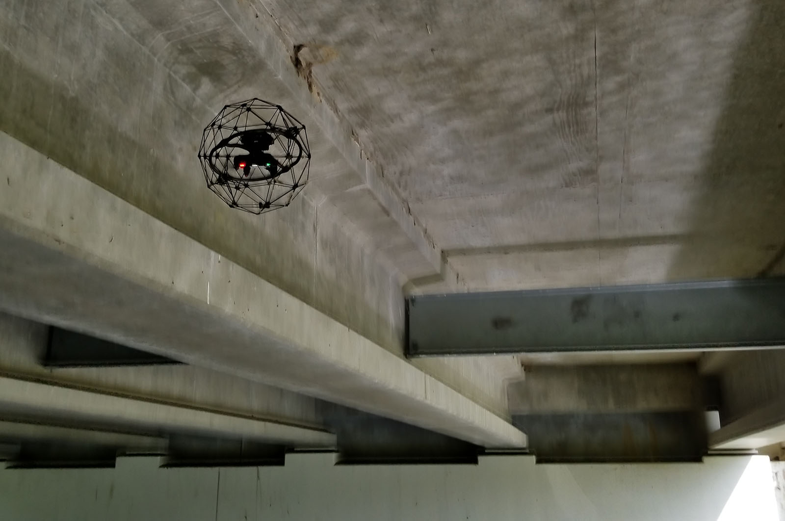 Indoor Drones in Bridge Inspection: Between Beams and inside Box Girder