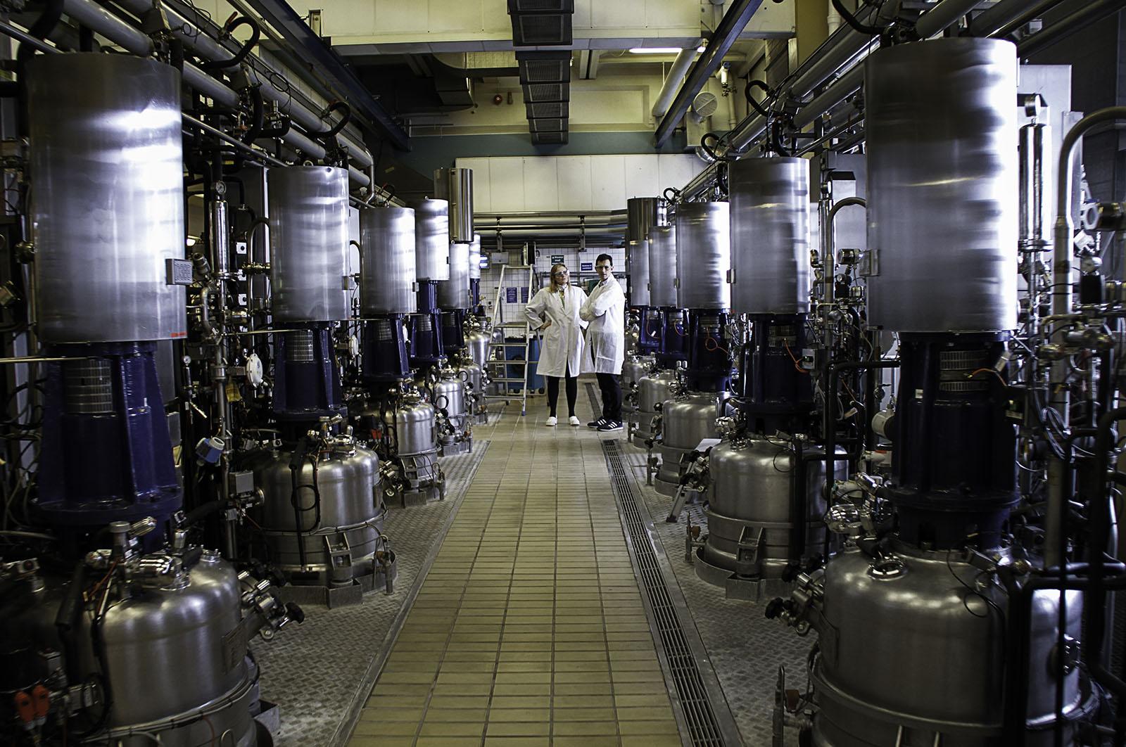 Inspection of enzymes fermenter tanks